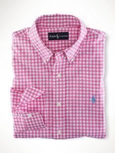 Camisa Ralph Lauren, Ralph Lauren Style, Polo Ralph Lauren, Awesome Shirts, Cool Shirts, Slim Fit Dress Shirts, Shirt Dress, Raph Lauren, Gingham Shirt
