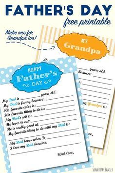 Free Printable Fathers Day Gift For Dad Grandpa