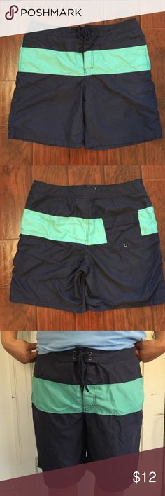 Men Swim Shorts Navy &Green Colorblock board shorts GAP Shorts Hybrids