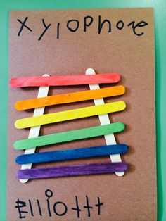 Popsicle stick letter x is for xylophone Preschool Letter Crafts, Alphabet Letter Crafts, Abc Crafts, Daycare Crafts, Preschool Lessons, Preschool Activities, Alphabet Activities, Music Activities For Kids, Music For Toddlers