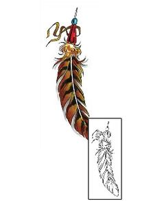 This Feather tattoo design from our Miscellaneous tattoo category was created by Cherry Creek Flash. This design Includes a printable full size color reference, and exact matching stencil. Tattoo Johnny designs come from artists around the world.