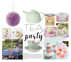 """""""Tea Party"""" by marias1808 ❤ liked on Polyvore featuring interior, interiors, interior design, home, home decor, interior decorating, Yankee Candle, Royal Albert, Anja and Kusmi Tea"""