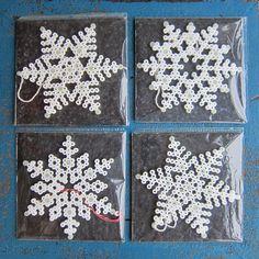 Snowflakes hama perler beads by zitanania