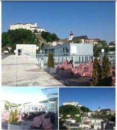 """UNIKUM SKY Café "" - Rooftop terrace Salzburg city , on top of the University Nonntal , Nonntaler Hauptstrasse, Salzburg, Austria  great view !!!"