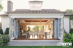 New backyard pool cabana french doors Ideas Pool House Interiors, Hill Interiors, Br House, Open House, Pool Cabana, Cottage, Pool Houses, Outdoor Rooms, Outdoor Furniture