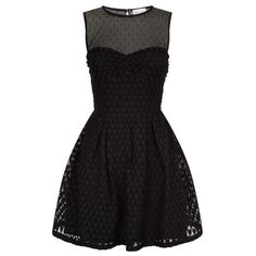 Red Valentino Heart Lace Dress ($670) ❤ liked on Polyvore featuring dresses, cocktail party dress, lace up dress, lace fit and flare dress, going out dresses and holiday party dresses