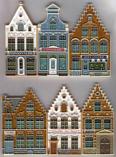 Gingerbread House Designs, Christmas Gingerbread House, Christmas Art, Christmas Decorations, Holiday Decor, Gingerbread House Template, Gingerbread Houses, Xmas, Pottery Houses