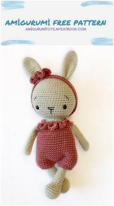 Crochet Monkey Pattern, Crochet Amigurumi Free Patterns, Crochet Bunny, Crochet For Kids, Crochet Animals, Crochet Dolls, Knitting Projects, Crochet Projects, Yarn Tail