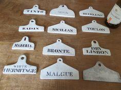 6 Rare 19thc English Pottery Wine/bin Labels Large C1830 | 531905 | Sellingantiques.co.uk