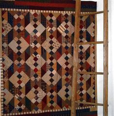 PPL026 Last Wrung on the Ladder-pieced quilt