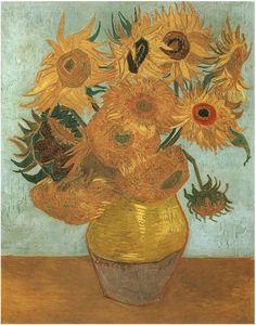 "Vincent van Gogh Naturaleza muerta: ""Vaso con doce girasoles"" Painting"