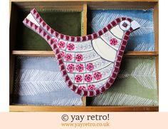 Fiona Gurney Box of Frogs Mosaics: Pink Flowery Mosaic Bird (£26.00)