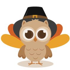 Thanksgiving Owl SVG cutting file thanksgiving svg cuts cute clip art clipart turkey cut file for scrapbooking