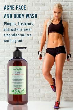 Workout acne happens when sweat, body oils, pollution, and dead skin cells clog the pores. If you're prone to exercise-acne or other body breakouts, make sure you properly treated yours skin.