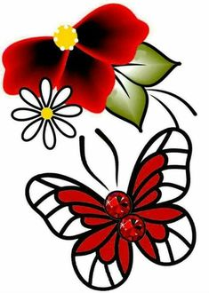 Butterfly Art, Flower Art, Butterflies, Colour Images, Cute Wallpapers, 3 D, Rooster, Card Making, Doodles
