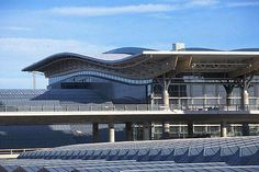The undulating roof of Gardermoen's main terminal building. - Image - Airport Technology