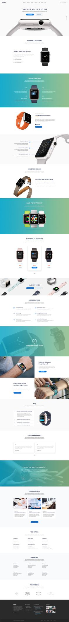 Inova - Product, SaaS, App, Startup, Marketing Landing Page #app #app landing #clean • Download ➝ https://themeforest.net/item/inova-product-saas-app-startup-marketing-landing-page/19486443?ref=pxcr