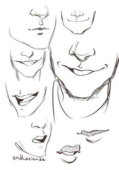 Man mouth smile drawing, drawing men face, drawing face expressions, cartoon drawings of Smile Drawing, Mouth Drawing, Guy Drawing, Character Drawing, Drawing People, Drawing Tips, Figure Drawing, Drawing Sketches, Drawing Tutorials