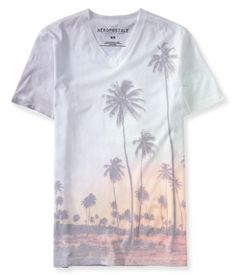 Tropical Vacay V-Neck Graphic T - Aeropostale