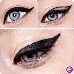 get bold cat-eyes with this super easy 3-step tutorial #essence #cosmetics #eyes #eyepencil #eyeliner #kajal #cateyes #wingedeyeliner #wingedeyes #amu #black #makeup #beauty #tutorial #stepbystep #instabeauty #partylook #getreadywithme #party #saturdaynight