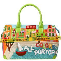 """Яркая красивая сумка с камнями и лентами """"Portofino"""" (AS07)"""