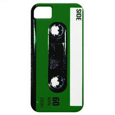 Dark Green Label Cassette iPhone 5 Covers