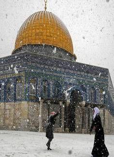 Snowing In Jerusalem, Israel