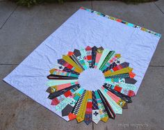Carrousel quilt from Snips Snippets using Mustang fabric from @cottonandsteel #sewing #quilting This was the 2014 #sewvivor winner @familyeverafter