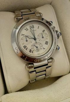 Cartier - Pasha de Cartier Chronograph watch - ref 1050 #Cartier #Casual