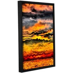 ArtWall Kevin Calkins Surreal Sunset Gallery-Wrapped Floater-Framed Canvas, Size: 16 x 24, Blue