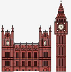FFFFOUND!   Big Ben and Houses of Parliament. Crazy detail = crazy hours ... on Twitpic