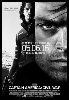 Captain America Civil War poster done in Bourne Ultimatum style
