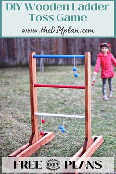 If you're looking for a good lawn game to add to your next barbecue get-together party, check out this DIY Ladder Toss Game. | Diy home improvement | wood projects | crafted wood | wood working projects | improvment | decoration home | home decor ideas | farmhouse decor | apartment decorating | craft projects | for kids #laddertossgame #diyprojects #diyideas #diyinspiration #diycrafts #diytutorial