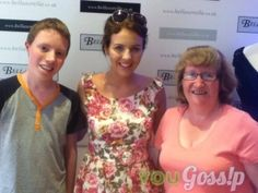 with Lydia From Towie and @peterbayfield at her pop up shop in london about 1 -...