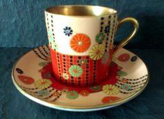 crown devon art deco coffee duo