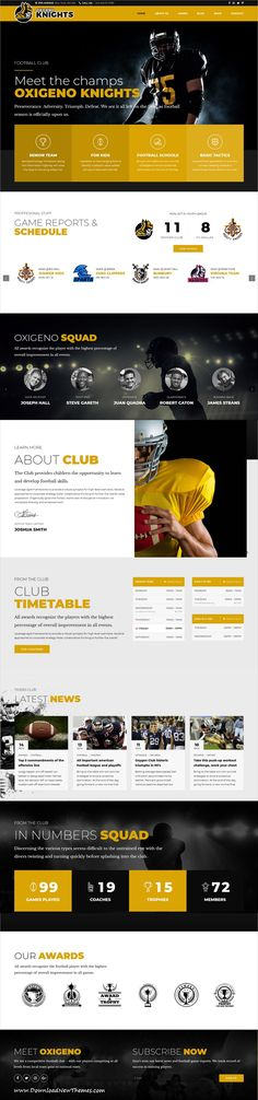 Oxigeno is clean and modern design 6in1 responsive multipurpose WordPress #template for #football, #sports club and teams website to live preview & download click on image or Visit  #webdesign