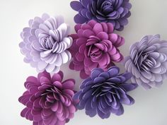 Paper Flowers - Flower Embellishments - Table Decorations - Handmade - QTY: 30 by Cutandpunch on Etsy https://www.etsy.com/listing/178358259/paper-flowers-flower-embellishments
