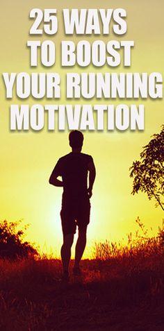 Yes! 25 Ways To BOOST Your Running Motivation. Go To: http://www.runnersblueprint.com/blog/running_motivation_hacks_tactics/