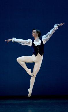 Birmingham Royal Ballet - Mozartiana: Joseph Caley; photo: Bill Cooper