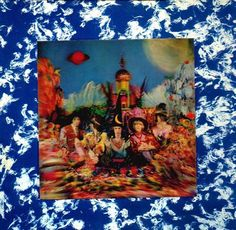 "Rolling Stones ""Satanic Majesties Request"" with 3-D cover. As your move the cover,the heads of the band turn from looking forward to looking to the center at Mick Jagger. My copy  is in very good shape, but the vinyl record is not. A favorite  album cover of mine indeed."