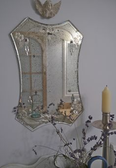 Chateau Chic - Vintage Etched Mirror