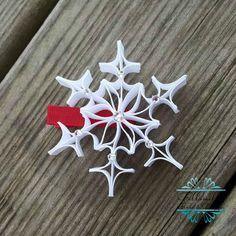 Snowflake Ribbon Sculpture Hair Clip