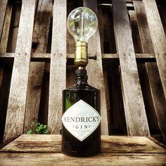 hendruck's gin custom bottle lamp by PirateLampsCo on Etsy https://www.etsy.com/listing/464175042/hendrucks-gin-custom-bottle-lamp