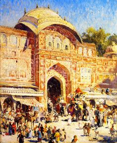 Entrance to the Maharajas Palace by Colin Campbell Cooper