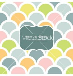 Abstract colorful fishscale frame seamless pattern vector by Oksancia on VectorStock®