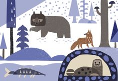 Winter in the Forest by Alexander Vidal, via Behance