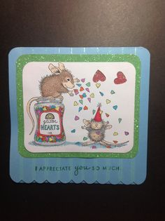 Love the house mouse stamps!