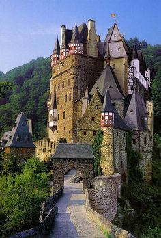 Burg Eltz, beautiful valley castle, I'm pretty sure it was the inspiration for the Beauty and the Beast Castle!!!