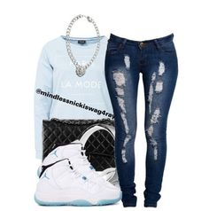 cute outfit with jordans