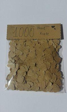 1000 coriandoli matrimonio /cuori /carta kraft /confetti